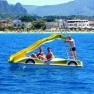 German guys on slide paddle boat