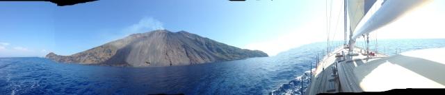 Panarama of volcano