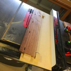 Taper jig made with scraps and super glue