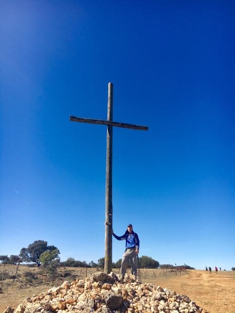 Top of the hill cross shot, Amen!